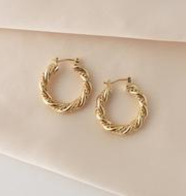 Jessie Hoops Earrings - Gold