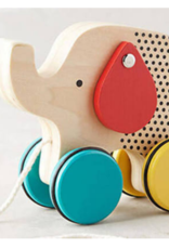 Wooden Elephant Pull Along Toy