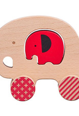 Little Elephant Wooden Push Along Toy