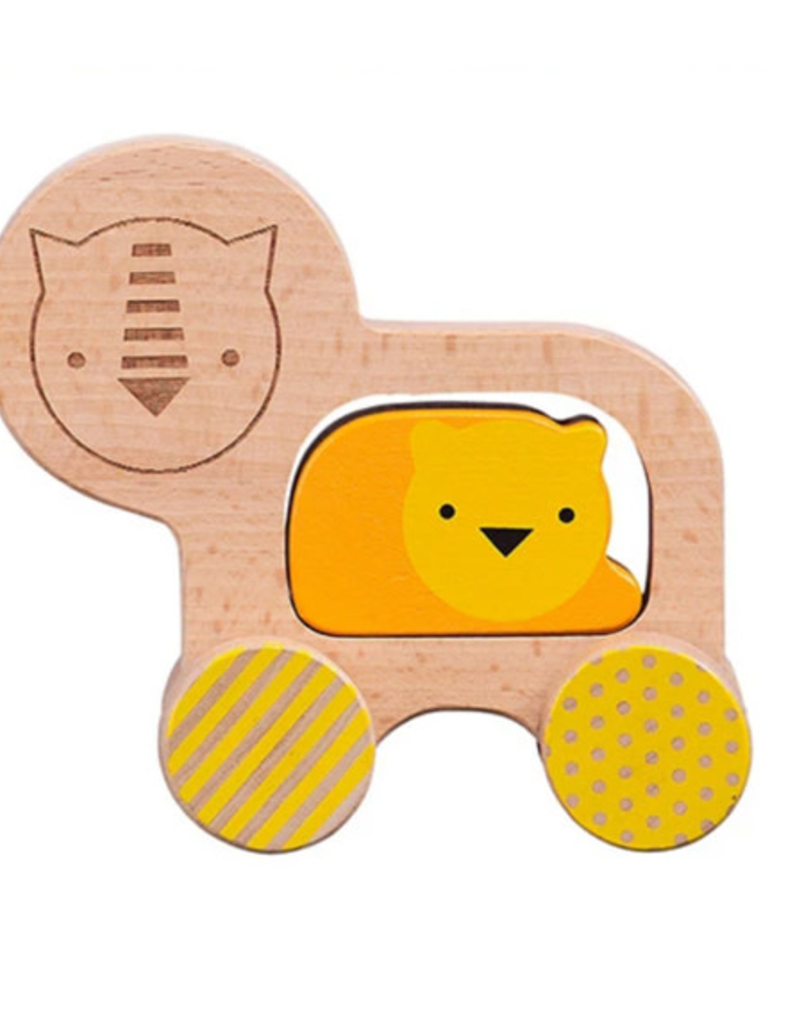 Little Lion Wooden Push Along Toy