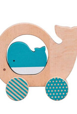 Little Whale Wooden Push Along Toy