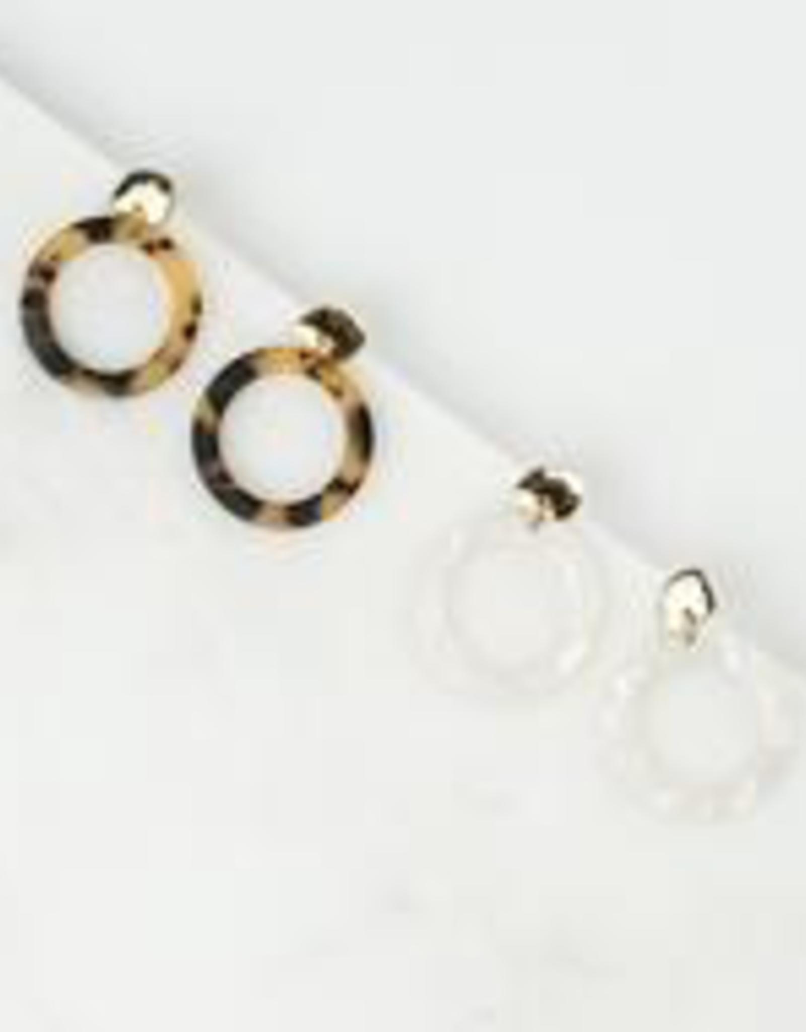 Tortoise Odessa Hoop Earrings