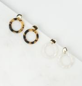 Tortoise Odessa Hoop Earrings