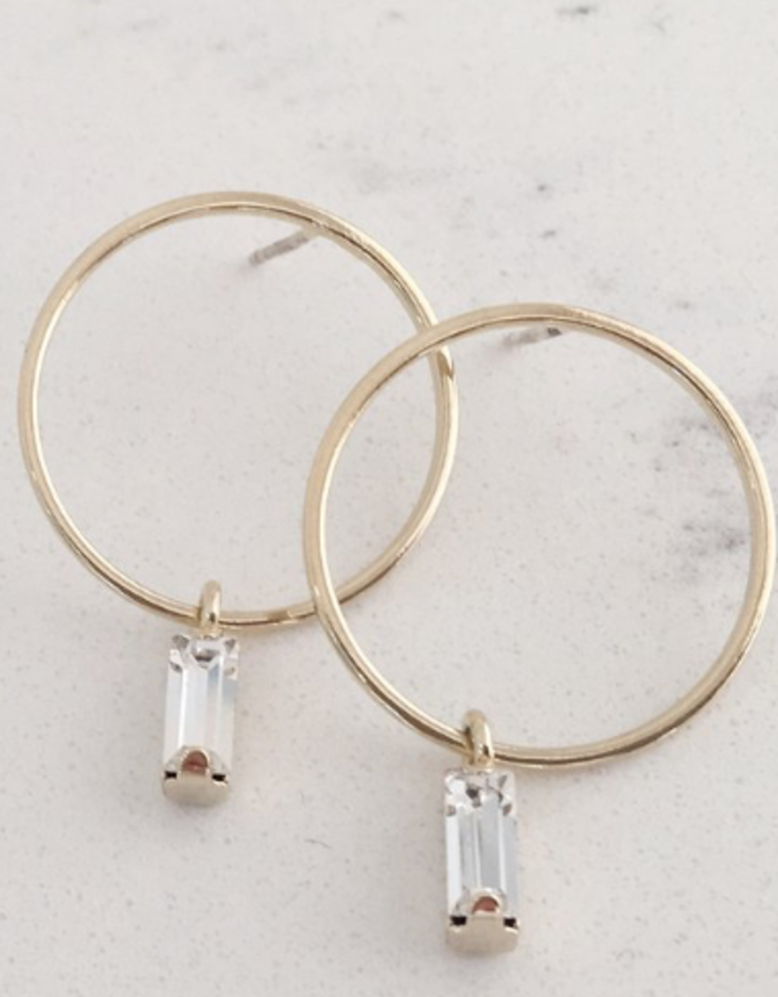 Colette Drop Hoop Earrings - Gold
