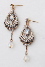White Eclipse Drop Earrings