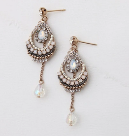 Eclipse Drop Earrings - White