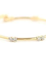 "Gemini Crystal Bangle 7.5"" - Gold"