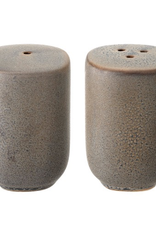 Matte Grey Stoneware Reactive Glaze Salt & Pepper Shaker