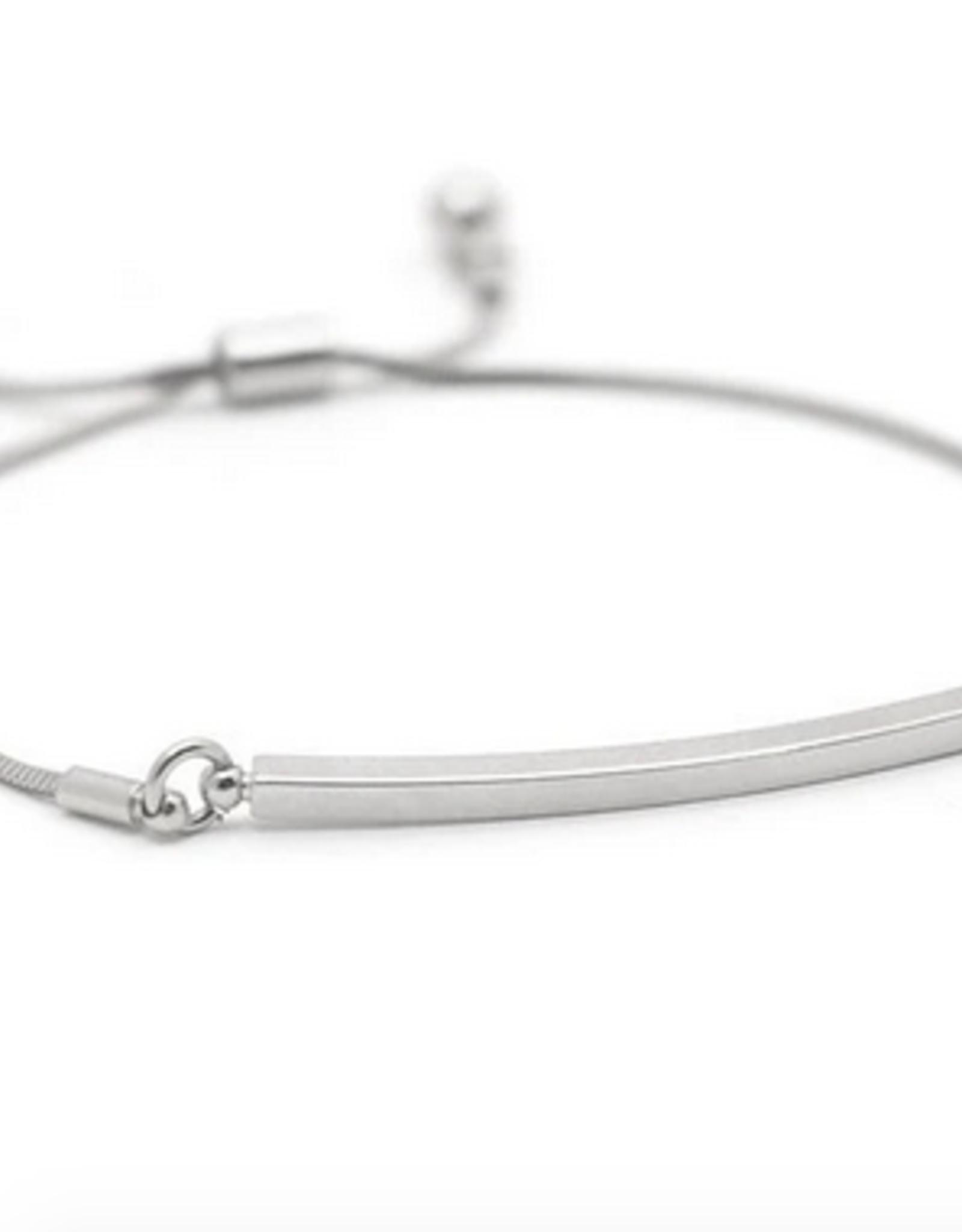 Silver Plated Brass Mora Bar Bracelet