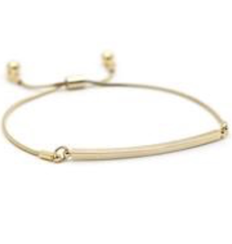Gold Plated Brass Mora Bar Bracelet