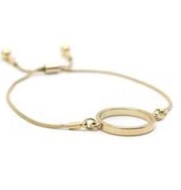 Gold Plated Brass Kit Hoop Bracelet