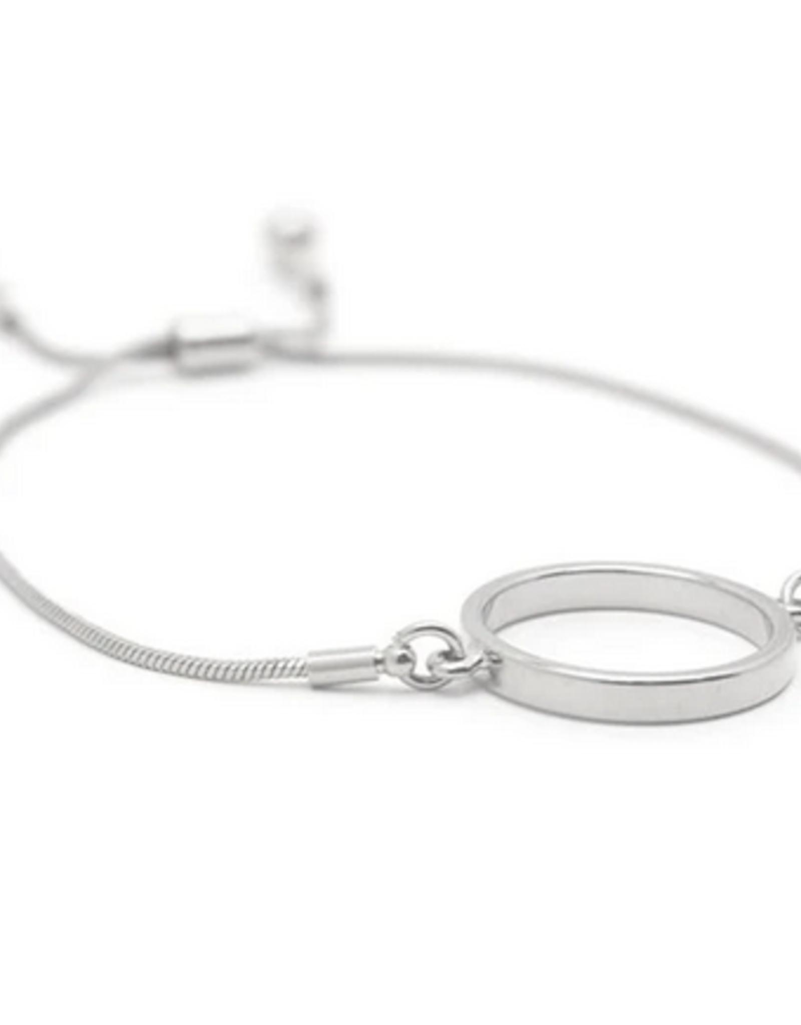 Silver Plated Brass Kit Hoop Bracelet