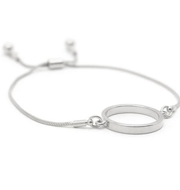 Silver Plated Brass Kit Hoop Bracelet
