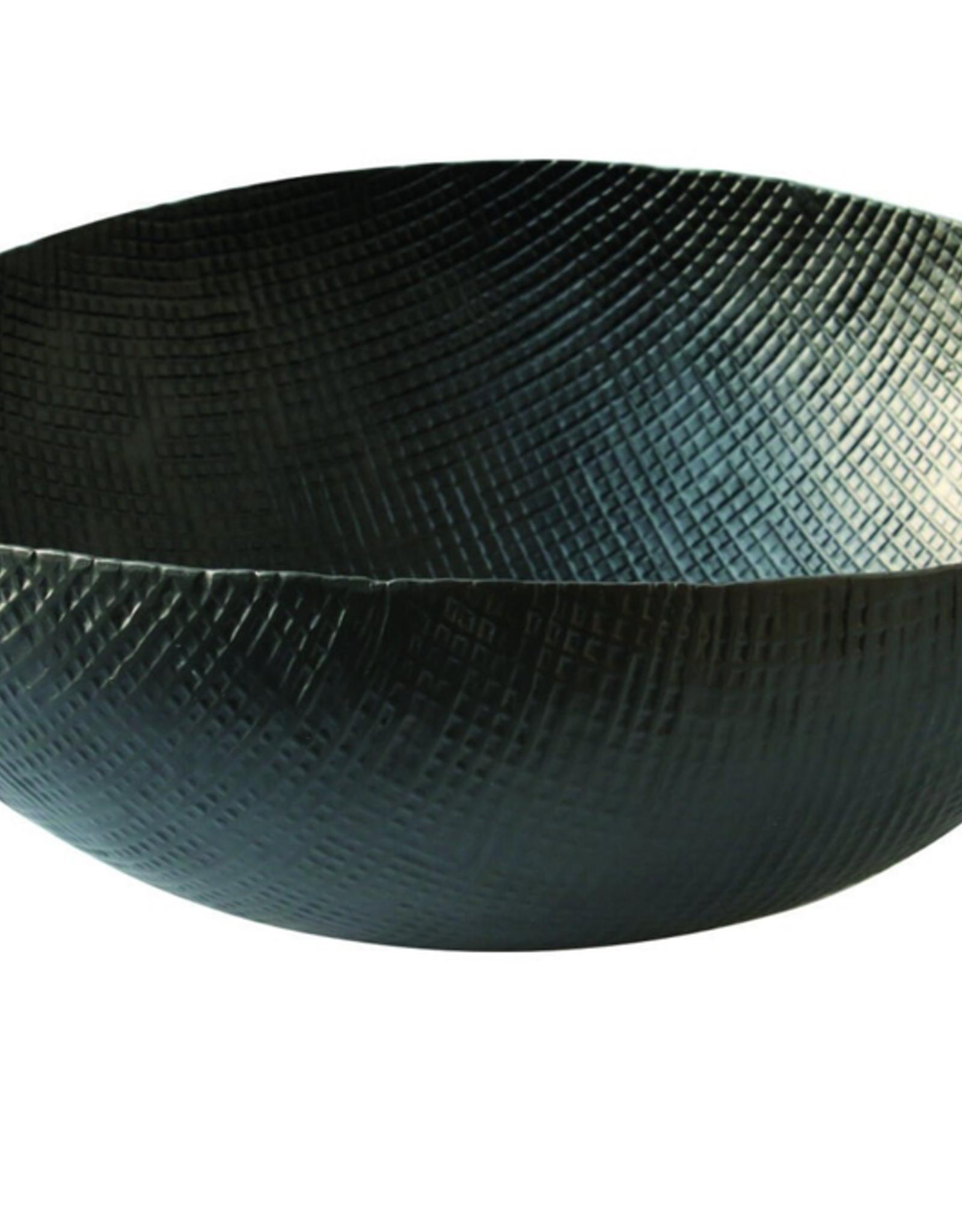 """15.75"""" XLarge Black Crosshatch Aluminum Bowl"""