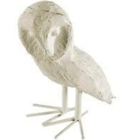 White Errol III Owl Statue