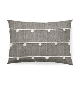 "13""x21"" Linda Grey/White Pillow"