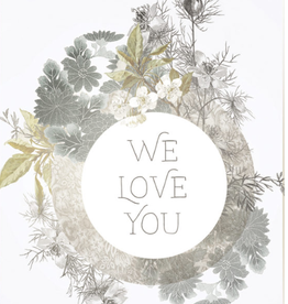 Small We Love You Card