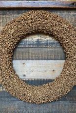 Pepper Shell Wreath Gold Glitter D24""