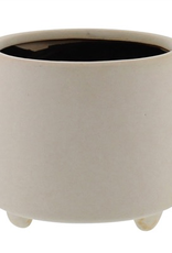 "6x6x5.25"" Matte White Simon Pot Footed"