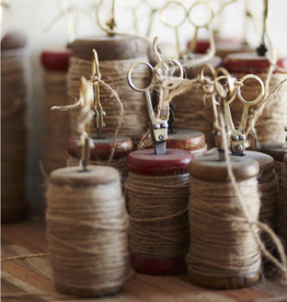 Small Jute Spool & Brass Scissors