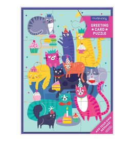 Cat Party Greeting Card Puzzle