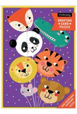 Animal Balloon Greeting Card Puzzle