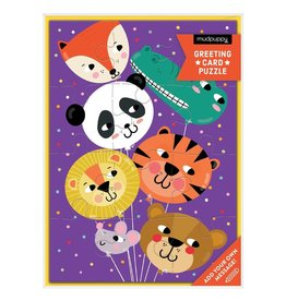 Animal Balloon Greeting Card Puzzle
