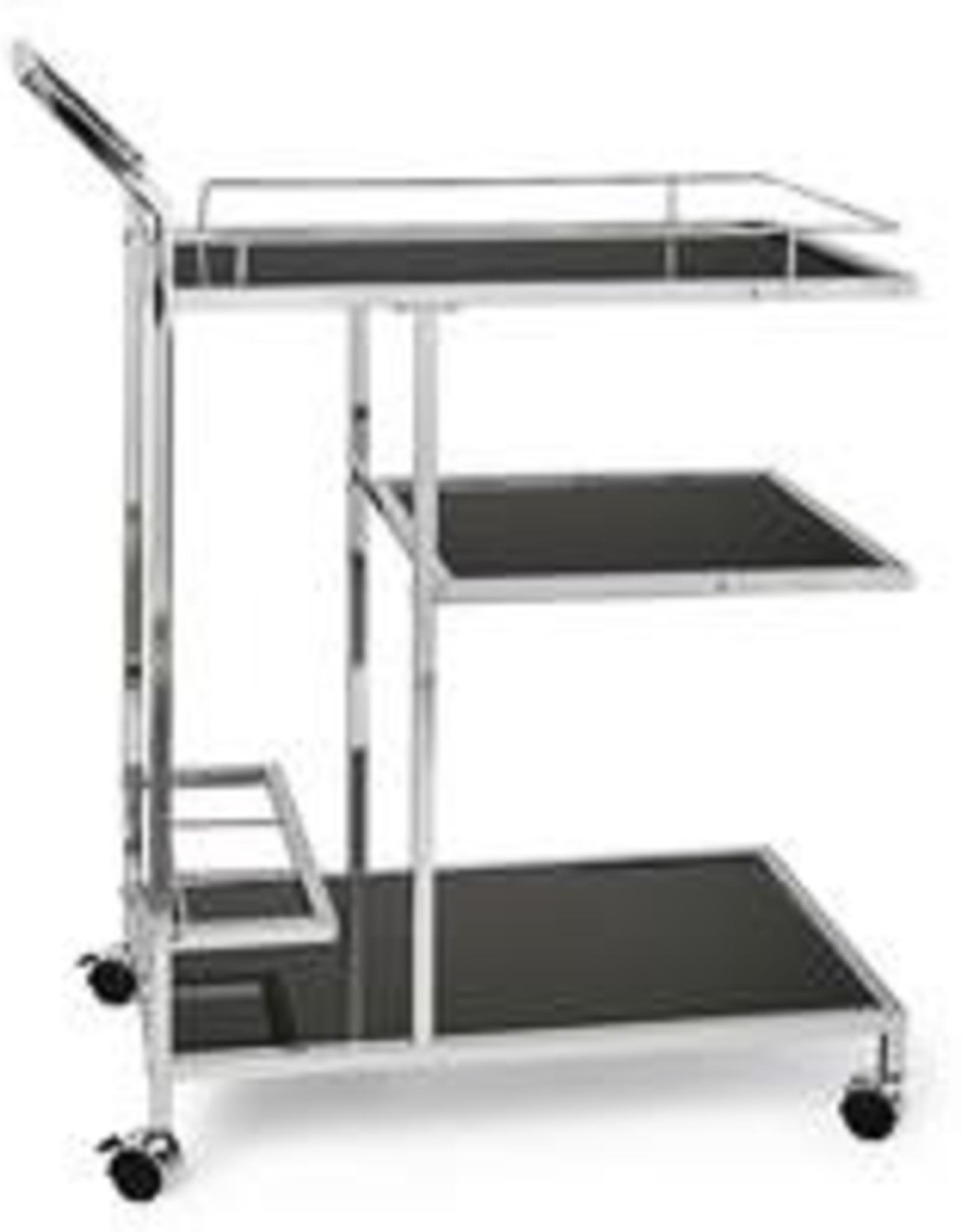 3 Tier Lenox Chrome Bar Cart