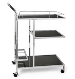 3 Tier Lenox Chrome Bar Cart
