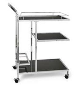 Bar Cart, Lenox Chrome 3 Tier