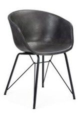 """Blakely Faux Leather Grey Lounge Chair 31""""H"""