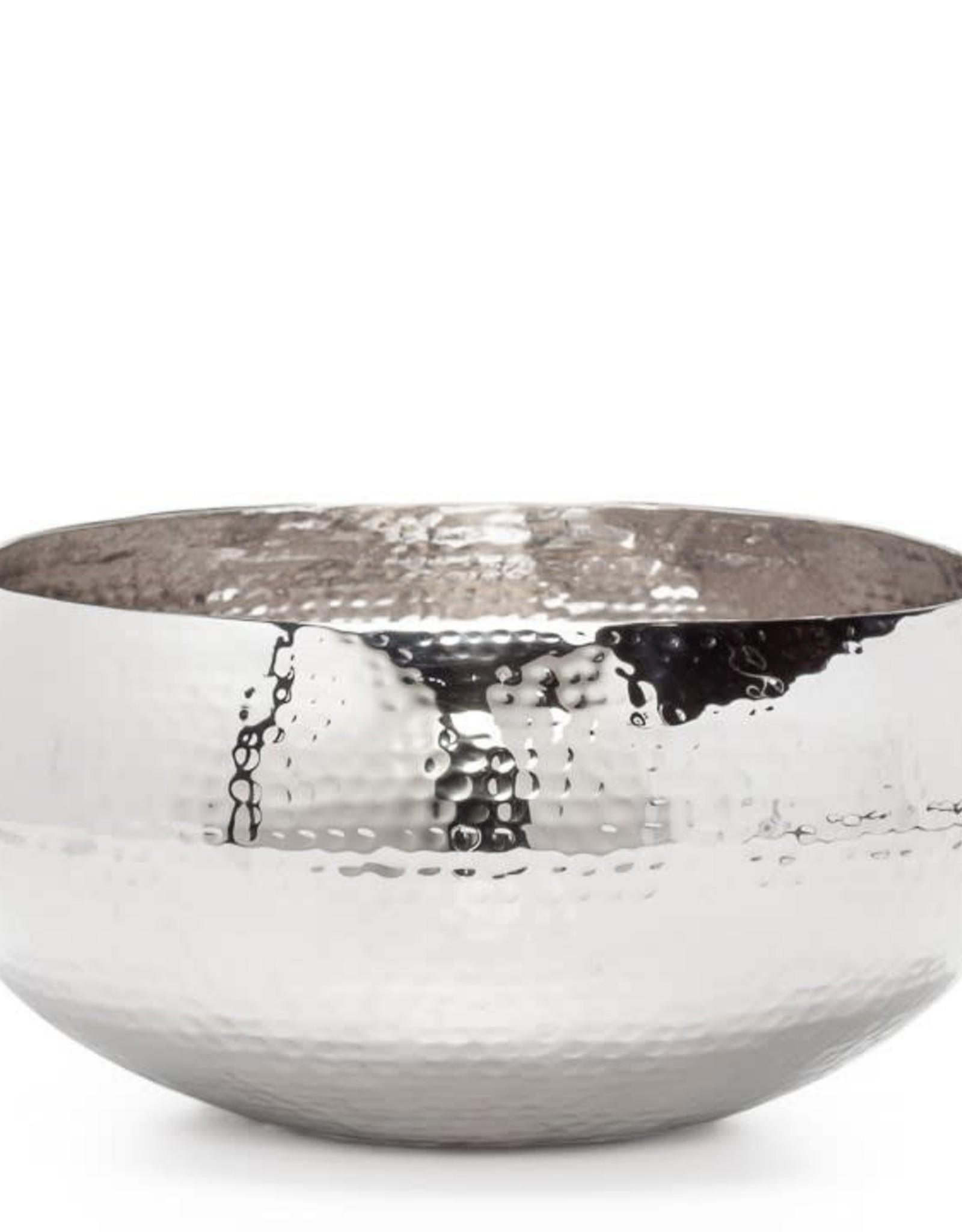 "Aladdin Hammered Aluminum Bowl 13""D"