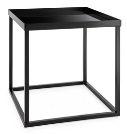 Cube Frame Table with Glass Top 16x16x16""