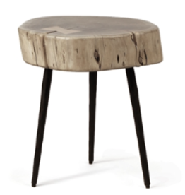 Sierra Side Table - Acacia Wood & Iron