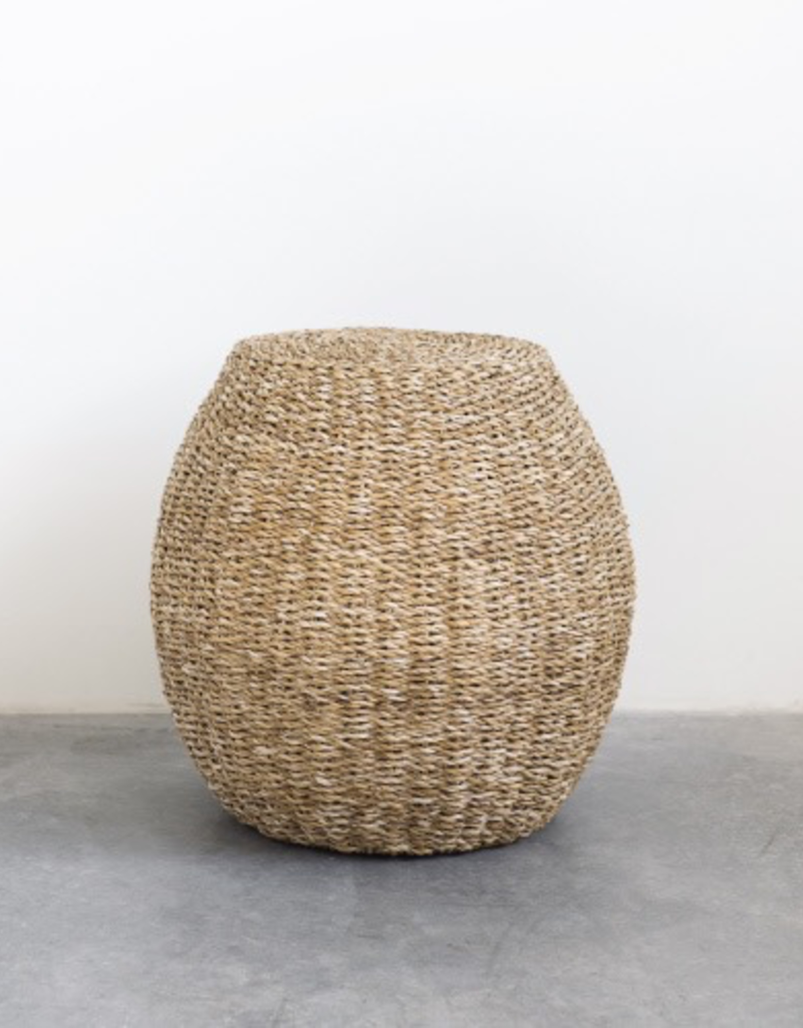 Handwoven Seagrass Stool