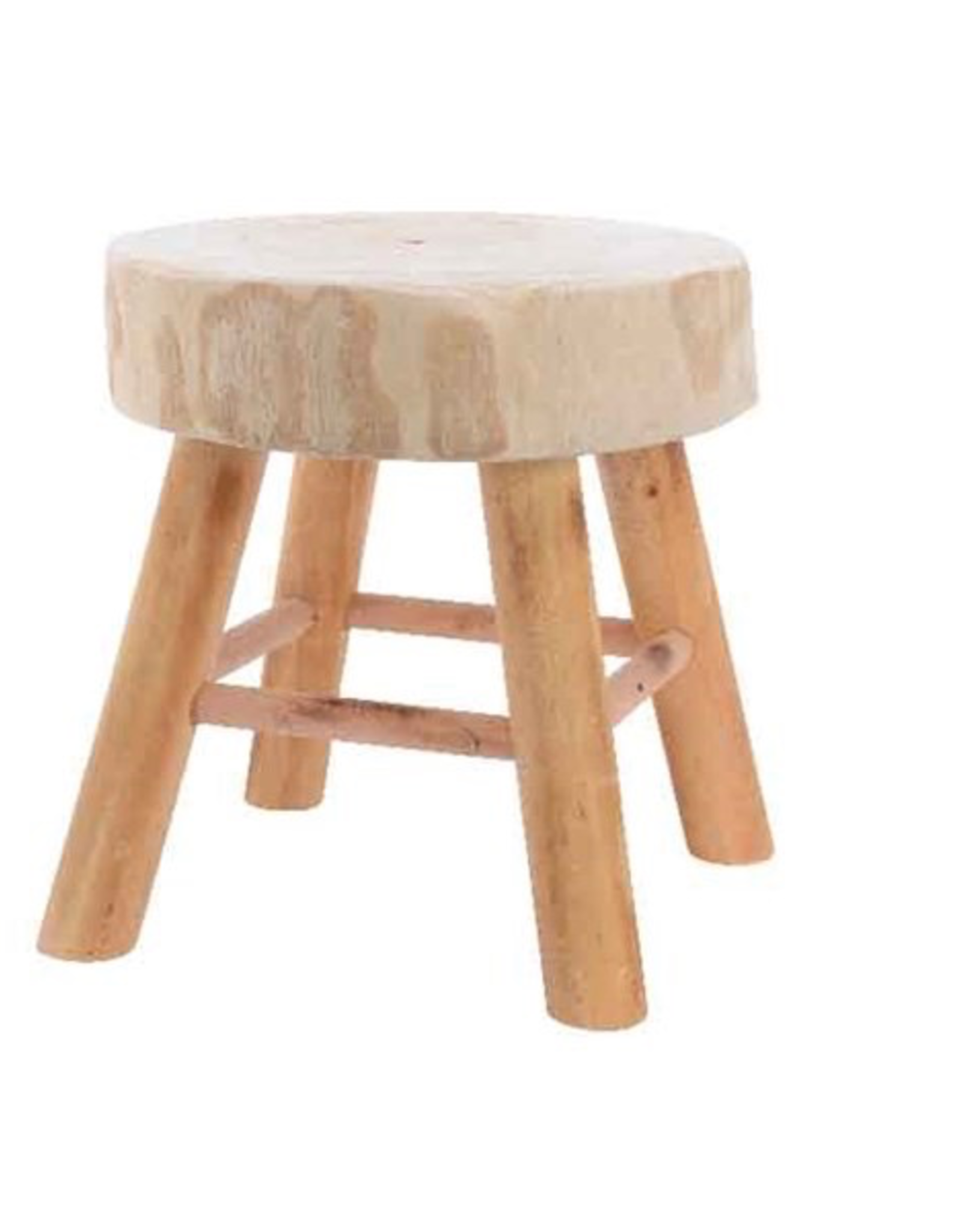 Natural Palonia Wood Stool