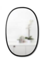 Oval Black Hub Mirror, 24 X 36