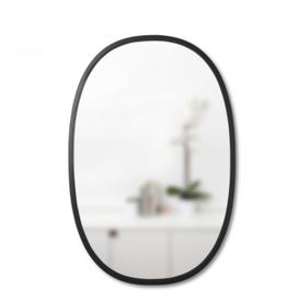 """Black Oval Hub Mirror L36"""" W24"""""""