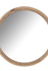 Sydney Round Wood Frame Mirror