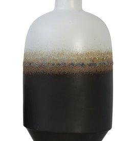 "Large Round Ombre Reactive Glaze Vase 12.5"""