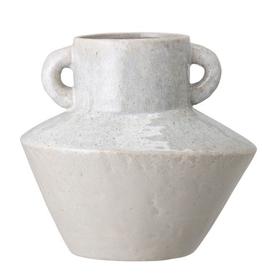 Stoneware Reactive Glaze Vase with Handles