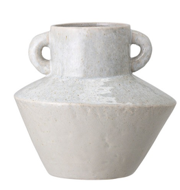 Vase, Stoneware, Reactive Glaze, w Handles