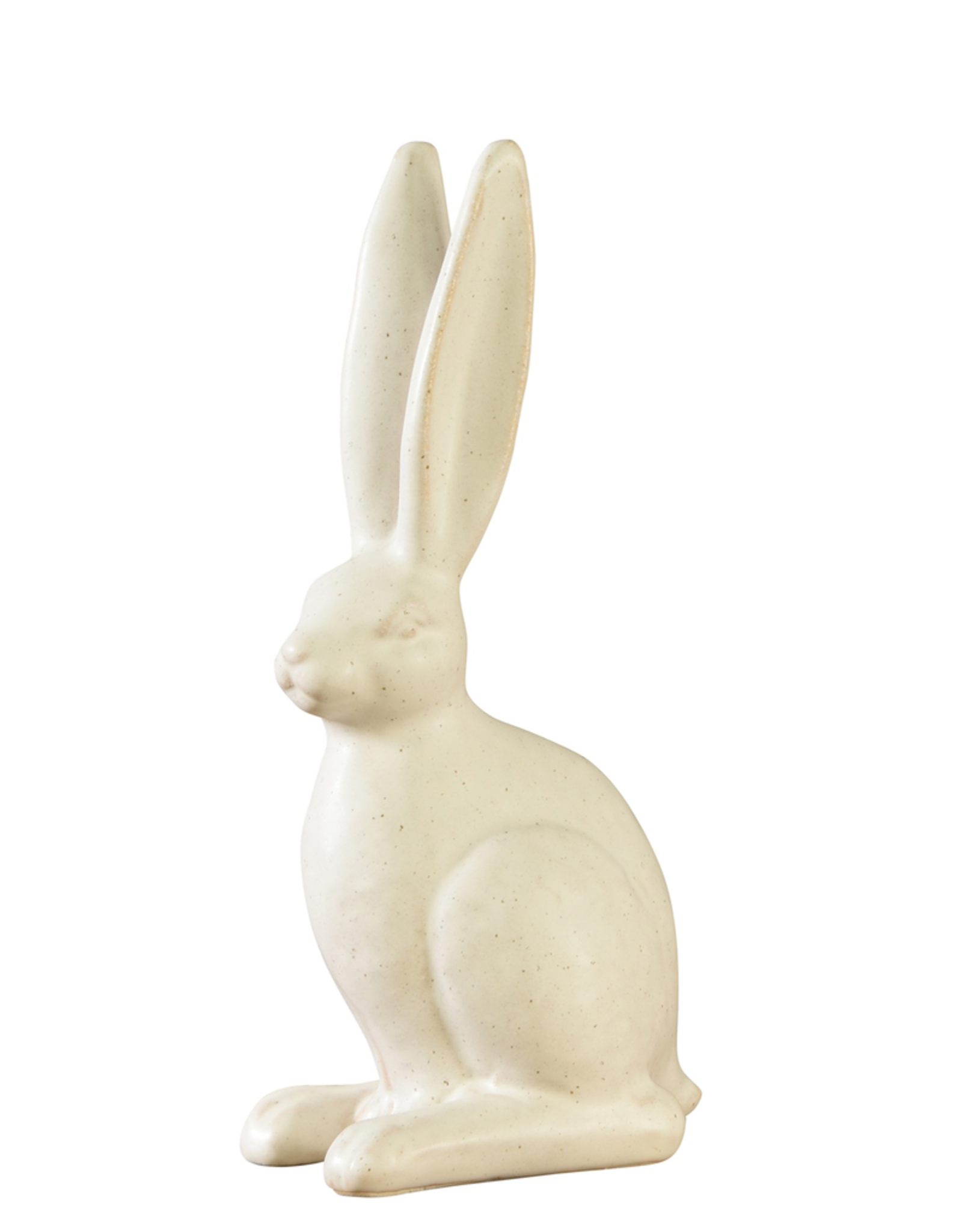 Large Sitting White Ceramic Rabbit