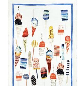 Tea Towel, Linen, Brivido Blu
