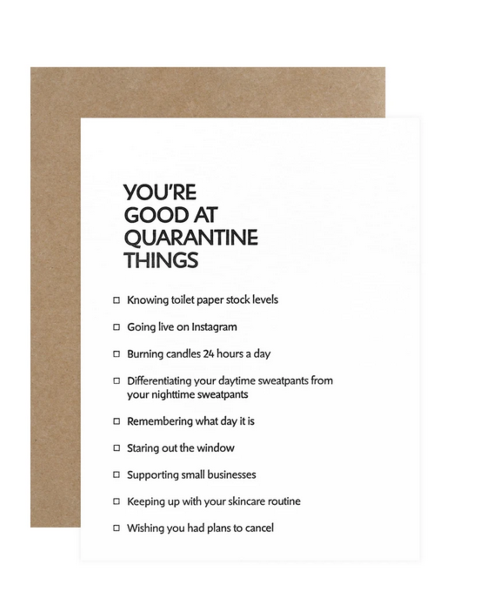 Quarantine Things Card