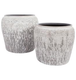 "Ulu White Terracotta Pot, 10"""