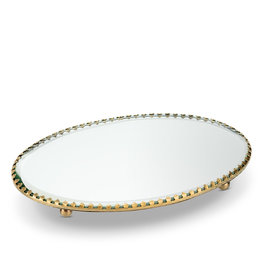 "Oval Mirror Tray 5x7.5"""