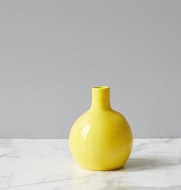Round Yellow Vase - Reg $79 Now $39