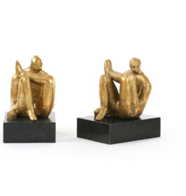 Cast Iron Amadeo Sitting Statue with Marble Base - Reg $99 Now $49
