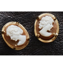 Cameo Earrings - Gold Plated Silver - Reg $149 Now $25